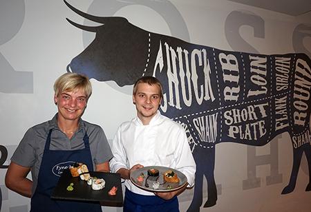 Sharon (Fyne Fish) and Chris Morris (Senior Chef de Partie at Brossen Steakhouse)